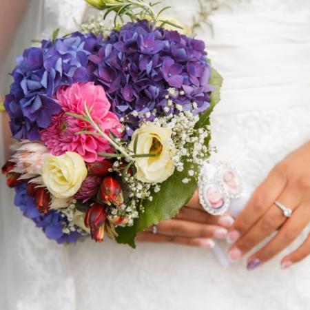 Die Ultraviolette - Brautstrauß