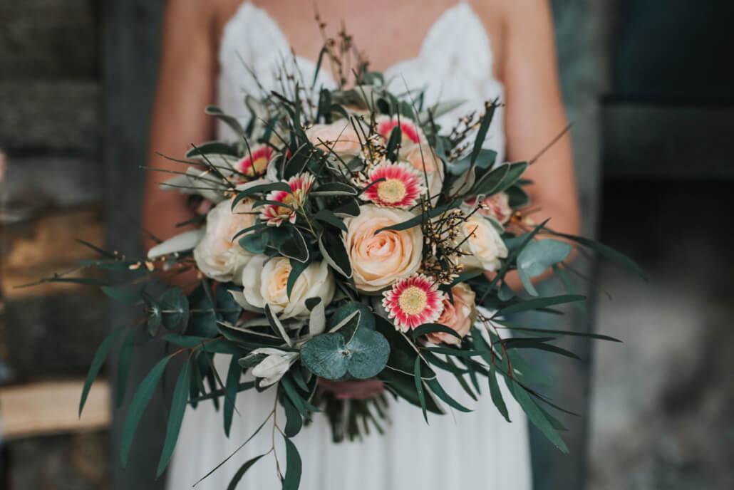 Hochzeitsinspiration Styled Shooting Industrial Chic Urban Wedding Brautstrauß