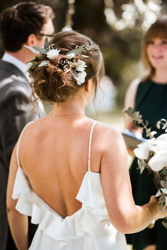 Hochzeitsinspiration Styled Shooting Greenery Gold freie Trauung