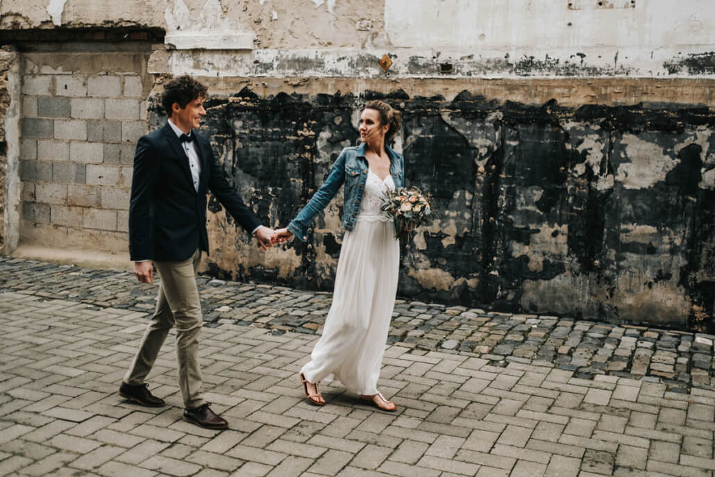 Hochzeitsinspiration Styled Shooting Industrial Chic Urban Wedding Brautpaar