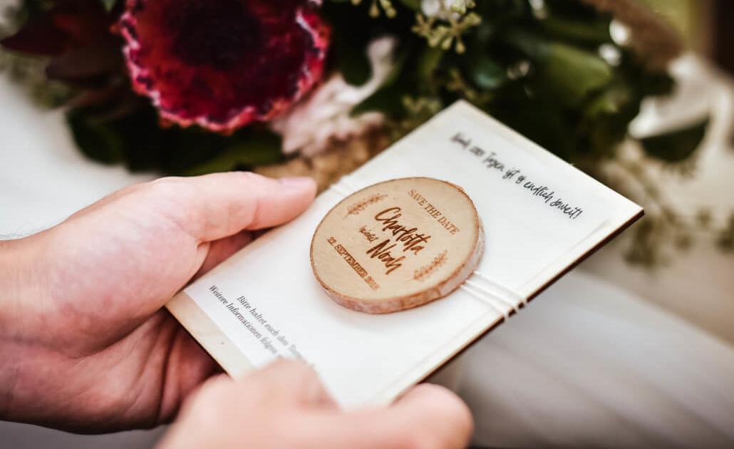 Save The Date Karte Hochzeit Holzmagnet