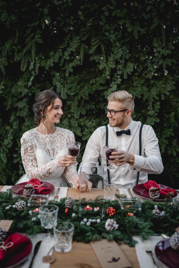 Hochzeitsinspiration Styled Shooting Winterhochzeit Weihnachten