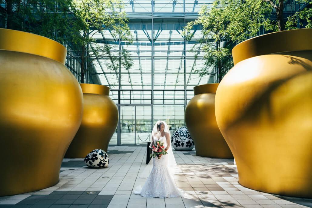 tropical Sommerhochzeit Braut Fotoshooting Kameha Grande