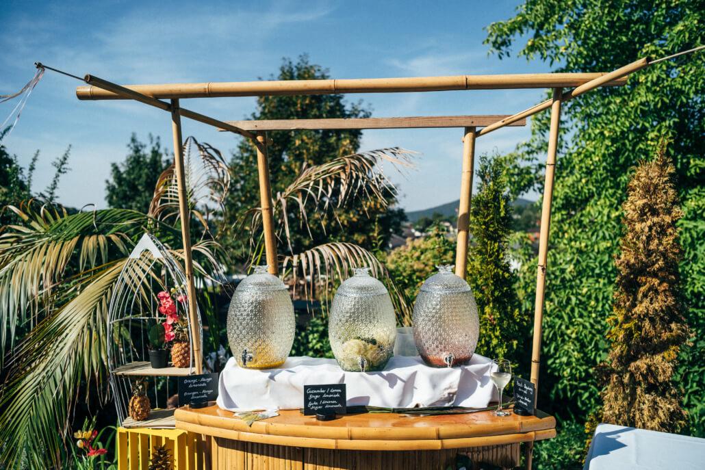 Limobar tropical Sommerhochzeit