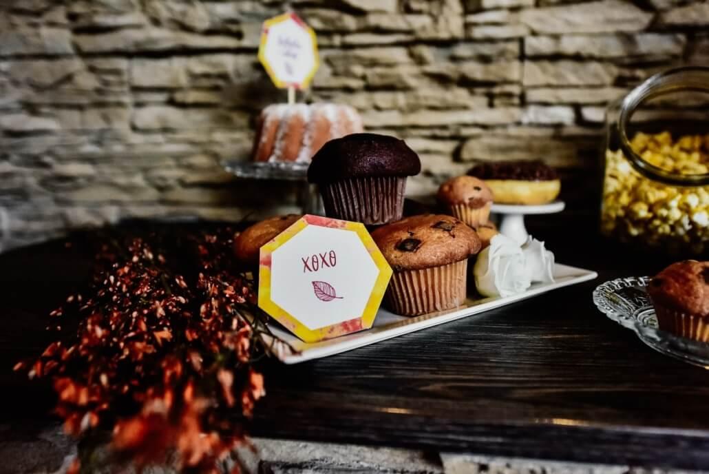 Herbsthochzeit Sweet Table Muffins