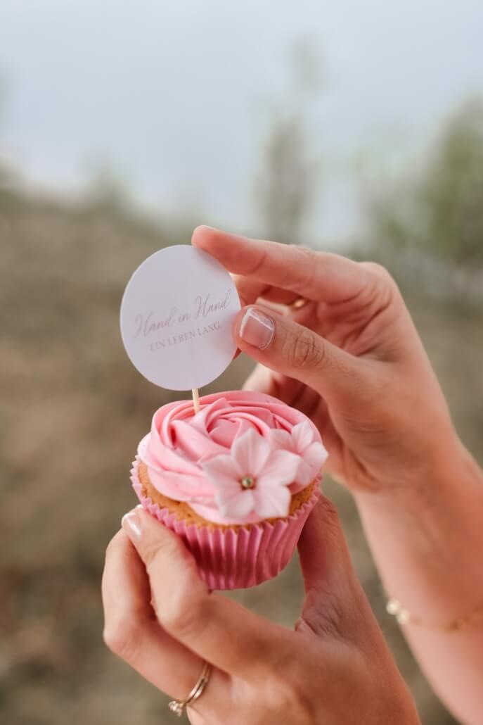 Pastell Hochzeit rosa Cupcake