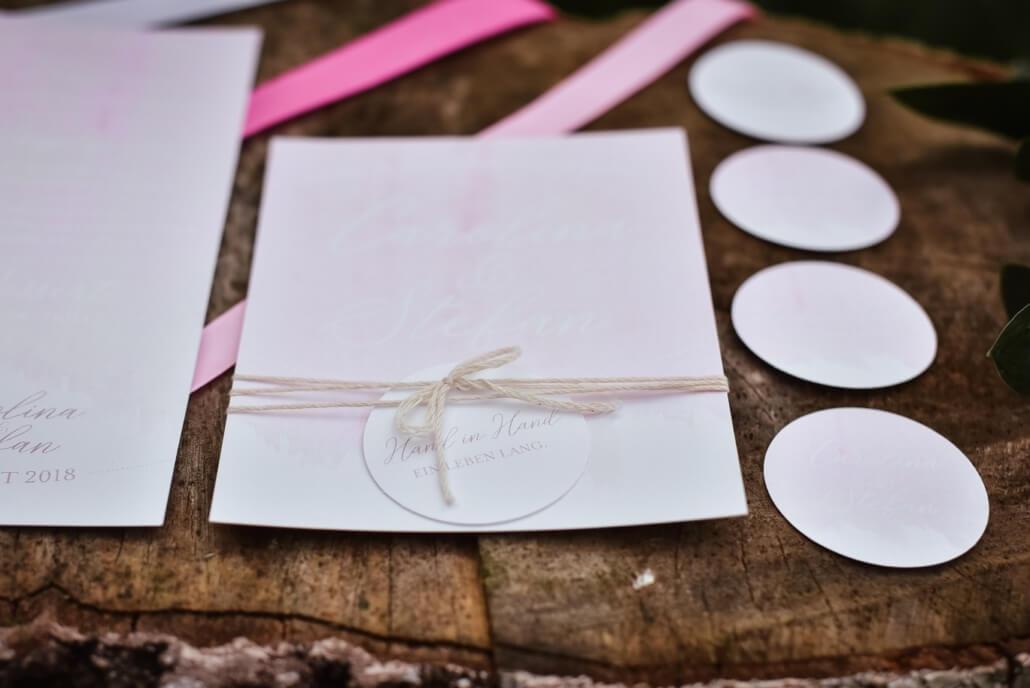 Hochzeitseinladung Pastell Rose