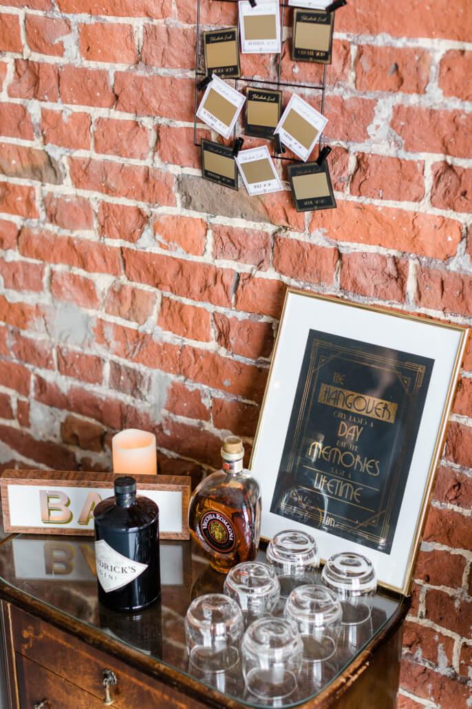 Whiskey Bar Great Gatsby Hochzeit