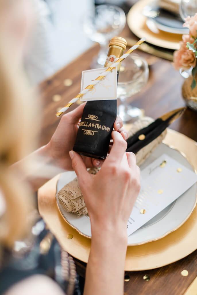 personalisiertes Gastgeschenk Great Gatsby Hochzeit