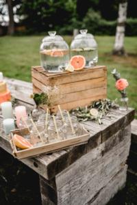 Living Coral Sommerhochzeit Fruity Summer Wedding Limobar