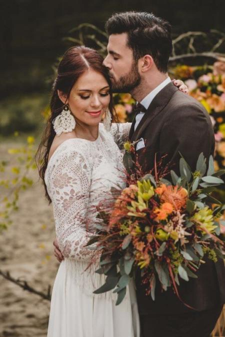 Desert Love Herbsthochzeit Elopement Brautpaar