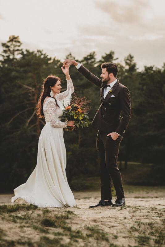 Desert Love Herbsthochzeit Elopement Boho Brautpaar