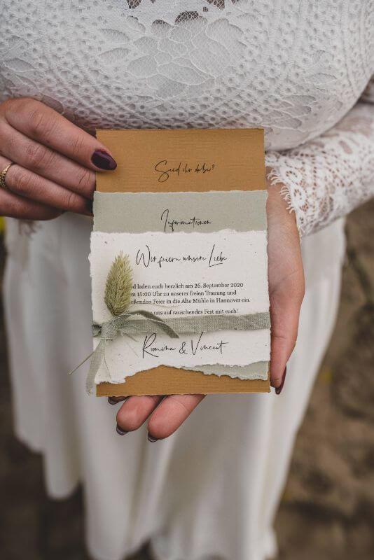 Desert Love Herbsthochzeit Elopement Hochzeitseinladung