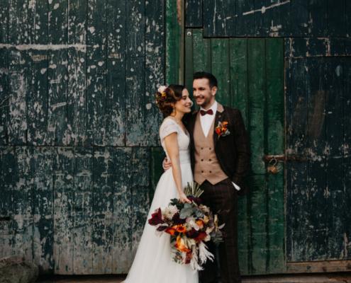 Herbsthochzeit auf der Wasserburg Geretzhoven Brautpaar