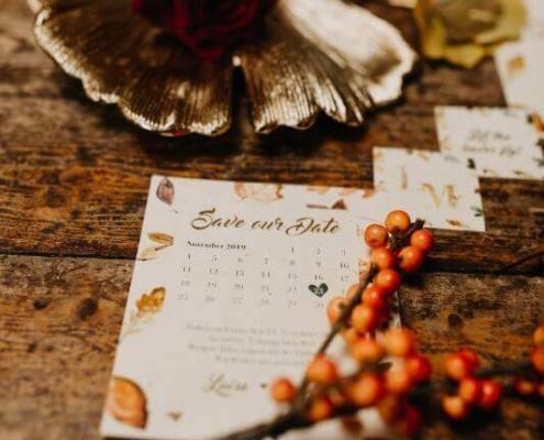 Herbsthochzeit auf der Wasserburg Geretzhoven Save The Date
