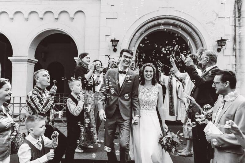Hochzeitsinspiration Greenery Kupfer Kranich