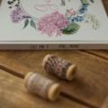 Gästebuch Hardcover Hortensienliebe für Sommerhocheiten mit individuellen Fragen im Innenteil