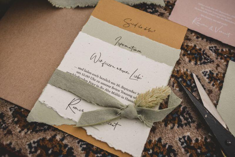 Hochzeitseinladung Desert Love für eine Herbsthochzeit